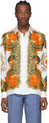 Casablanca White Silk Les Oranges Shirt
