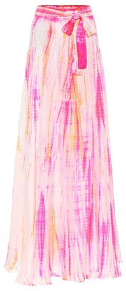 Anna Kosturova Exclusive to Mytheresa Cara tie-dye silk skirt