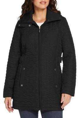 Weatherproof Hooded Quilted Walker Jacket
