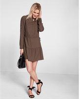 Express self tie convertible sleeve shirt dress