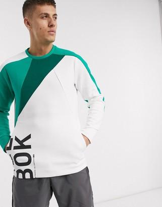Reebok Blocked crew neck sweatshirt