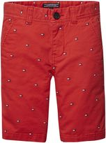 Tommy Hilfiger Boys Flag Print Chino Shorts