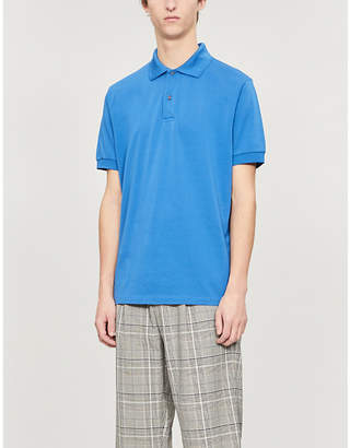 Paul Smith Short-sleeved fitted cotton-pique polo shirt