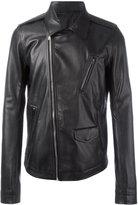 Rick Owens Stooges biker jacket - men - Cotton/Goat Skin/Cupro - 48