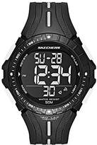 Skechers Men's 'Center Strap Digi' Quartz Plastic and Polyurethane Casual Watch, Color:Black (Model: SR1096)