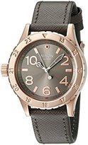 Nixon Women's A4672214-00 38-20 Analog Quartz Rose Gold/Taupe Watch with Leather Band