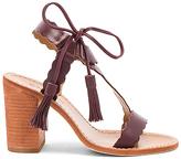 Zimmermann Scallop Tie Heel in Burgundy. - size 37 (also in 38,39)
