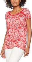 Tom Tailor Women's Lovely Crincle Shirt Short Sleeve T-Shirt