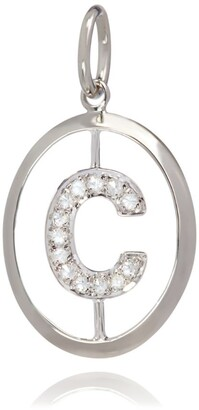 Annoushka White Gold and Diamond C Pendant