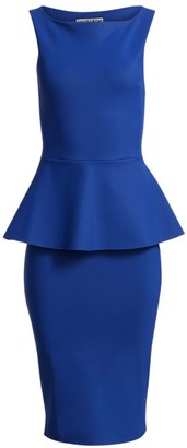 Chiara Boni Nabira Peplum Sheath Dress