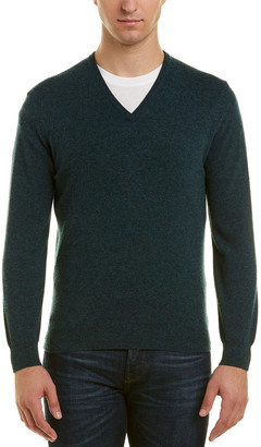 Turnbull & Asser Merino Wool V-Neck Sweater