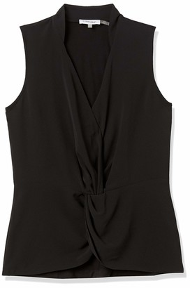 Calvin Klein Women's Sleeveless Faux Wrap Blouse