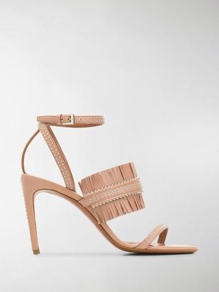 Alaia Fringe Detail Sandals
