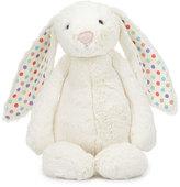 Jellycat Large Bashful Dot Bunny Stuffed Animal, Cream