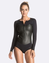 Roxy Womens Pop Surf 1mm Satin Long Sleeve Front Zip Bikini Springsuit Wetsuit