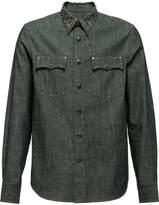 Prada studded denim shirt