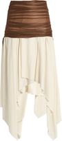 Loewe Mesh-waist cotton skirt