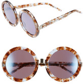Wildfox Couture Women's Malibu Deluxe Round Plastic Frame Sunglasses