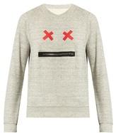Marc Jacobs Zip Face Crew-neck Cotton Sweatshirt