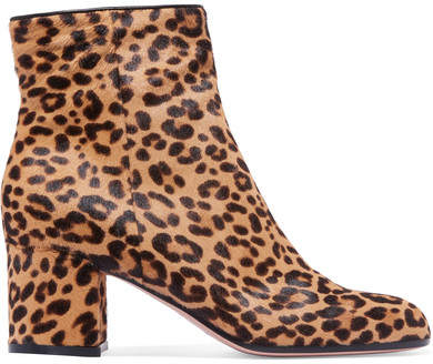 Gianvito Rossi Margaux 65 Leopard-print Calf Hair Ankle Boots - Leopard print