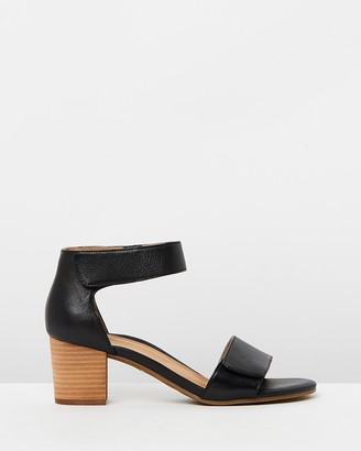 Vionic Women's Black Mid-low heels - Solana Heeled Sandals - Size One Size, 5 at The Iconic