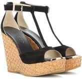 Jimmy Choo Pela Suede Wedge Sandals
