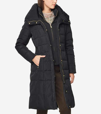 Cole Haan 40-inch Taffeta Down Coat