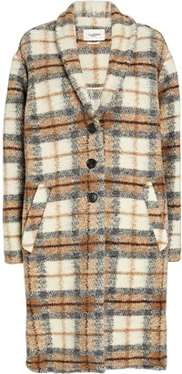 Etoile Isabel Marant Gabriel Wool-Blend Plaid Coat
