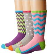 Jefferies Socks Sporty Half Cushion Crew Socks 3-Pair Pack Girls Shoes