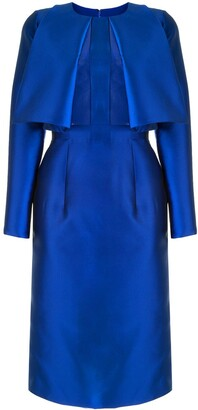 Saiid Kobeisy Fitted Sheer-Panel Dress