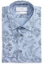 Men's Calibrate Trim Fit Paisley Plaid Dress Shirt