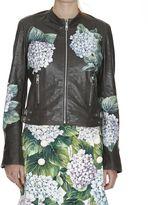 Dolce & Gabbana Hydrangea Leather Jacket