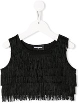 DSQUARED2 fringed cami top