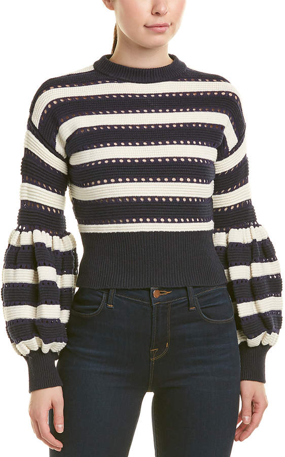a7e3b08c946f Self-Portrait Blue Women's Sweaters - ShopStyle