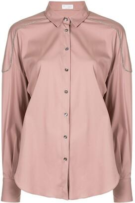 Brunello Cucinelli Brass-Embellished Cotton Shirt