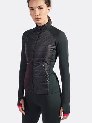 LNDR Black Dark Khaki Running Jacket - S/M
