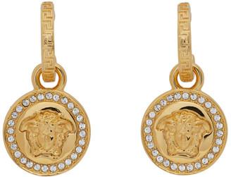 Versace Gold Diamond Medusa Earrings