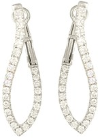 Frederic Sage 18K White Gold Large Abstract Diamond Hoop Earrings
