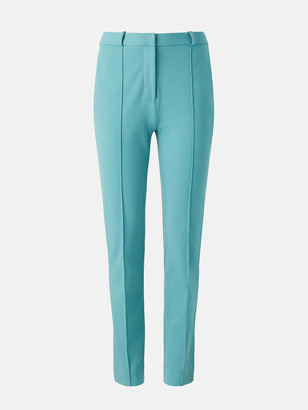 Diane von Furstenberg James Stretch-Crepe Straight Pants