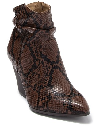 Seven Dials Halsey Snakeskin Embossed Scrunched Ankle Bootie