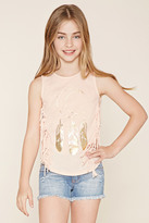 Forever 21 Girls Moon Graphic Top (Kids)