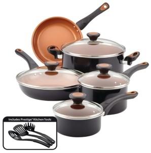 Farberware Glide Copper Ceramic 12-pc. Cookware Set