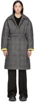 Woolmark Ienki Ienki Grey Down Mac Coat