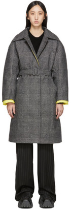 Ienki Ienki Grey Down Woolmark Mac Coat