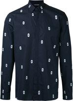 Neil Barrett lightening bolt print shirt - men - Cotton - 38