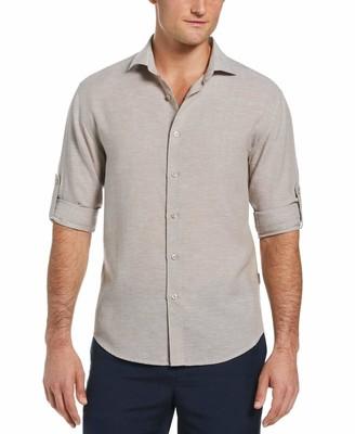 Cubavera Travel Select Linen-Blend Shirt