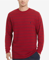 Polo Ralph Lauren Men's Big & Tall Stripe Waffle-Knit Crew-Neck Thermal Top