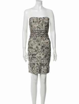 Herve Leger Floral Print Mini Dress w/ Tags Grey