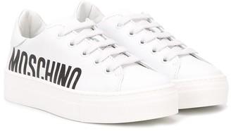 MOSCHINO BAMBINO Logo Low-Top Sneakers