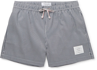 Thom Browne Slim-Fit Short-Length Striped Seersucker Swim Shorts